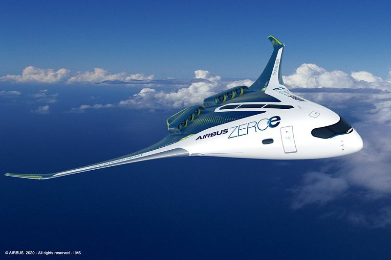 Airbus reveals three concepts designs for its hydrogen powered aircraft