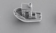Researchers 3D printed a tug boat that is only 30 microns long