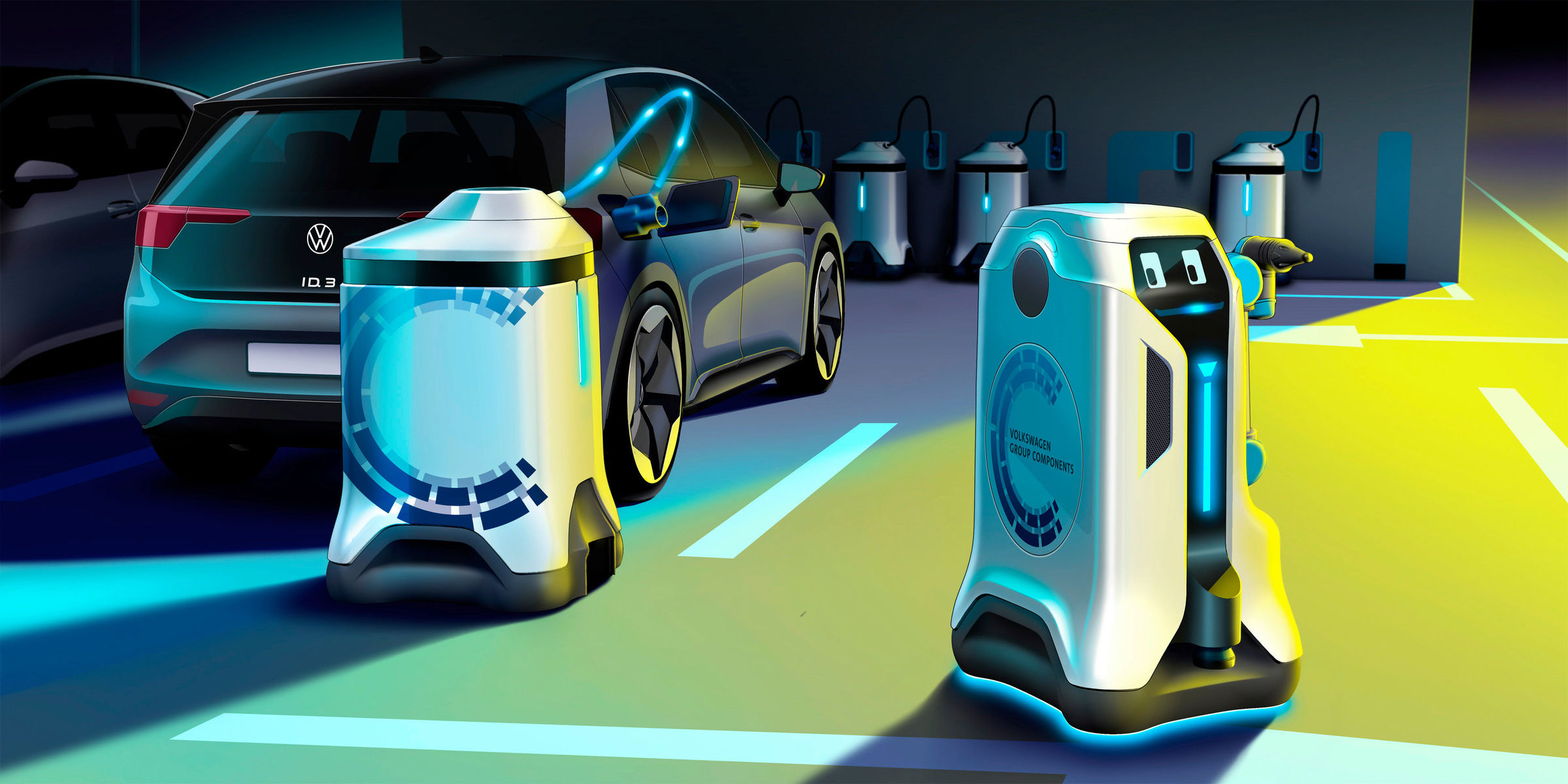 VW provide a glimpse at its mobile charging robot
