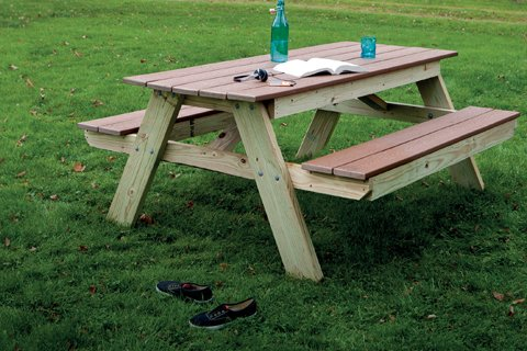make wood picnic table