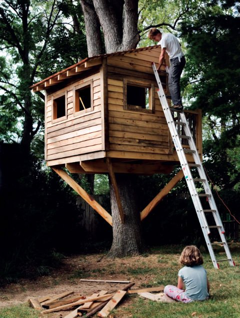 Build a dream tree house popular mechanics for Build a dream house